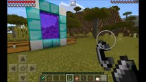 How to make an AETHER PORTAL in MCPE - Minecraft PE (Pocket