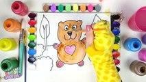 и в  в и к  и медведь Цвет раскраска цвета для сердце Дети Дети ... Узнайте страница Кому в Это 2017
