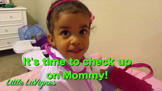 DOC MCSTUFFINS CHECK-UP TURNS INTO SHOT IN HER TUMMY FROM MOMMY! ~ Little LaVignes