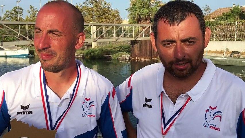 L'Interview des Champions de France doublettes Jeu Provençal 2017 à Palavas-les-Flots