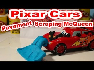 Disney Pixar Cars Lightning McQueen we use Play Doh to make Pavement Scraping McQueen
