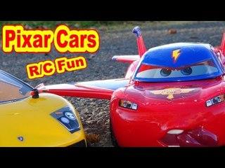 Pixar Cars Lightning HAWK McQueen with RC Lamborghini Gallardo On The Track