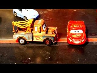 Pixar Cars 3 Lightning McQueen Nightmares with more Doc Hudson Mater and Sheriff and Flo