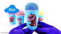 Disney Jr. Frozen Spiderman Mickey Mouse Club Good Dinosaur Ice Cream Clay Foam Snow Cone