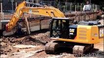Sur chenille e 320e démolition démontage pelleteuse chantier dégagé