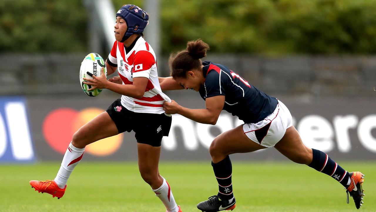 Highlights: Japan beat Hong Kong at the Women's Rugby World Cup