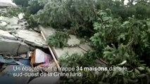 Chine: 2 morts et 25 disparus dans un glissement de terrain