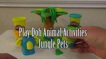 Animaux pâte léléphant singe jouer tortue doh jungle animales de la selva animaux de
