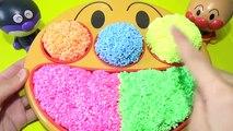 Anime Anpanman plat déjeuner Face seau de sable et une pelle cinétique ★ ★ Nendoasobi Jouons dans la piscine à balles ★ Anpanman Baikinman et dargile et de sable ❤︎ enfants des enfants