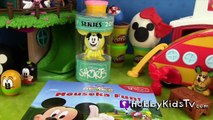 Disney Toy Surprises! Domo TokiDoki Yummy Donut Play-Doh Choco Eggs Mickey Mouse HobbyKids