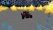 Androïde voiture au volant extrême pour des jeux enfants course course cascade des pistes Impossible jeu 3D hd
