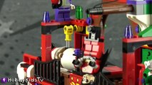 BATMAN vs HARLEY QUINN! Gotham City Motorcycle Chase Lego Build + Joker Captures Robin Hob