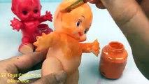 Mal bébé poupées corps peindre doigt la famille garderie rimes Apprendre les couleurs faire semblant jouer pour enfant