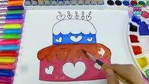 Apprendre les couleurs charmant gâteau de Valentin journée coloration bricolage peinture Apprendre pour enfants enfant