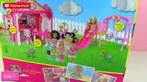 Bebé mala y masha oso de familiaridad con Jennifer mamá juegos muñeca Barbie con juguetes de dibujos animados