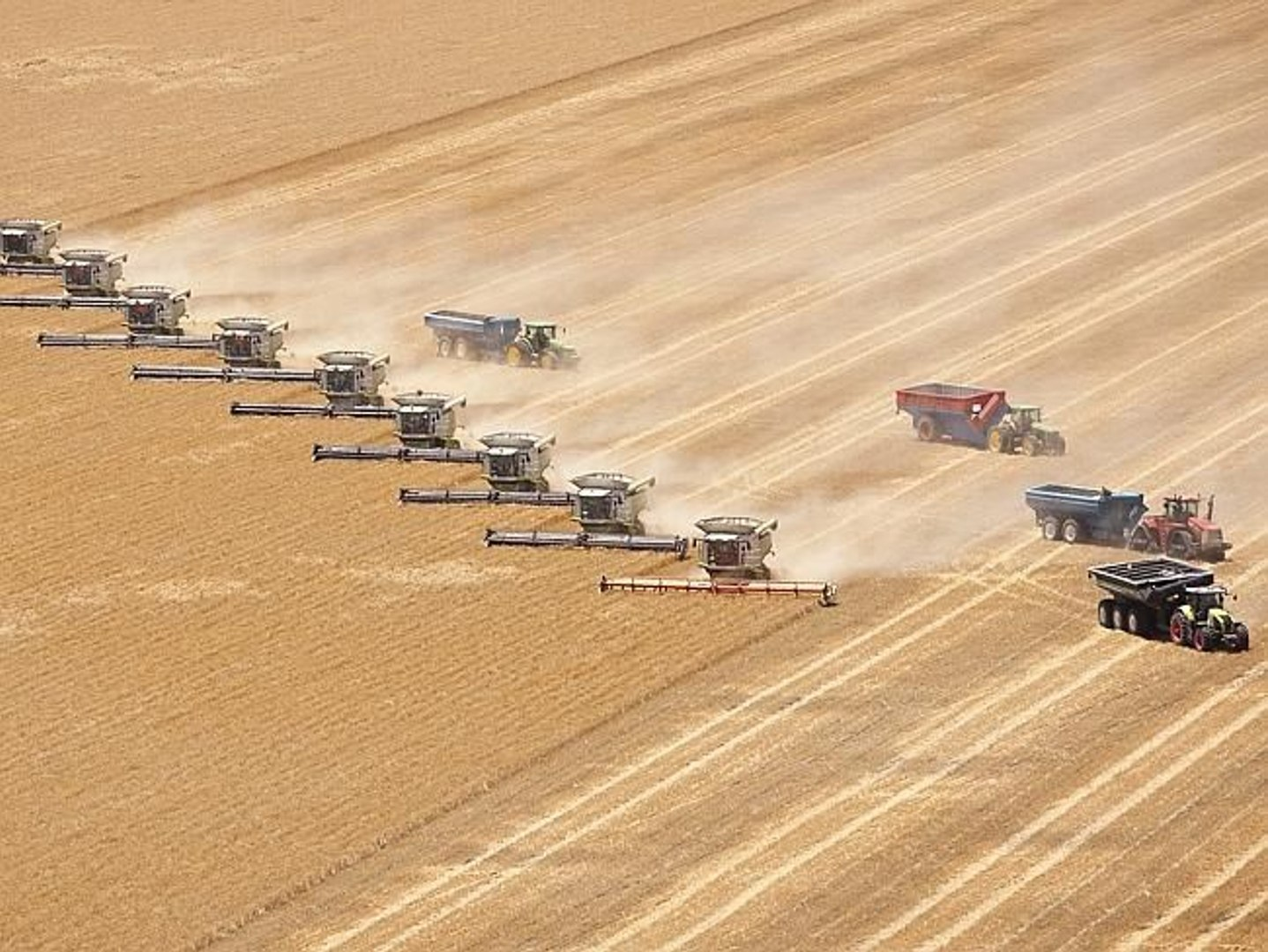 Biggest combine harvesters in the world