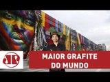 Kobra pinta maior mural do mundo em SP; saiba como foi a concepção