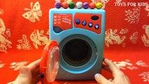 La magie Magie tester la lessive avec Machine à laver les œufs kinder