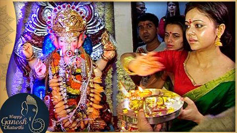 Devoleena Bhattacharjee aka Gopi Performs Ganpati Visarjan  Ganpati Aarti  TellyMasala