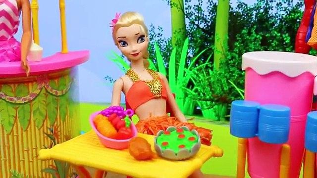 BARBIE Hawaiian Fun Playset with Frozen Elsa, Spiderman & Ariel Surprise Toys Blind Bags i