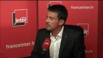 Manuel Valls au micro de Nicolas Demorand