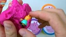 Играть доч чашки Пеппа свинья сюрприз Игрушки Радуга Узнайте цвета глина Пеппа свинья Семья для ребенок