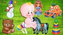 Televisión en video para las primeras palabras de los niños alimentos imágenes enseñan las palabras de enseñanza poznavashkin