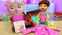 Vivant et bébé lit chaise lit de bébé couche poupée mange aliments meubles haute avec Kidkraft lucy