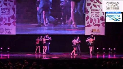 El Show de bailarines en el Mundial de Tango 2017