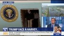 Tempête Harvey: Donald Trump est arrivé au Texas