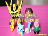 GEORGE LEARNS TO TELL THE TRUTH PEPPA PIG BUMBLEBEE TRANFORMERS & THE LAST KNIGHT DORA THE EXPLORER HATCHMALS Toys BABY