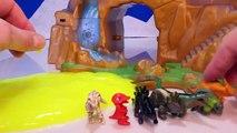 Naissance dinosaures des œufs éclosion dans de de vase jouets vidéo contre Go