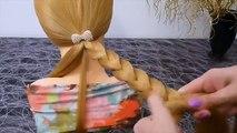 En escuela de corte de pelo en sí rápida de medio / largo volosy.logkaya kosa.pletenie trenza / buey
