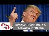 Donald Trump volta a atacar a imprensa americana e publica vídeo dando uma surra no logotipo da CN