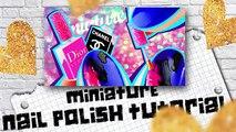 Bricolage maison de poupées ongle Polonais réal qui fonctionne 100 miniatures  