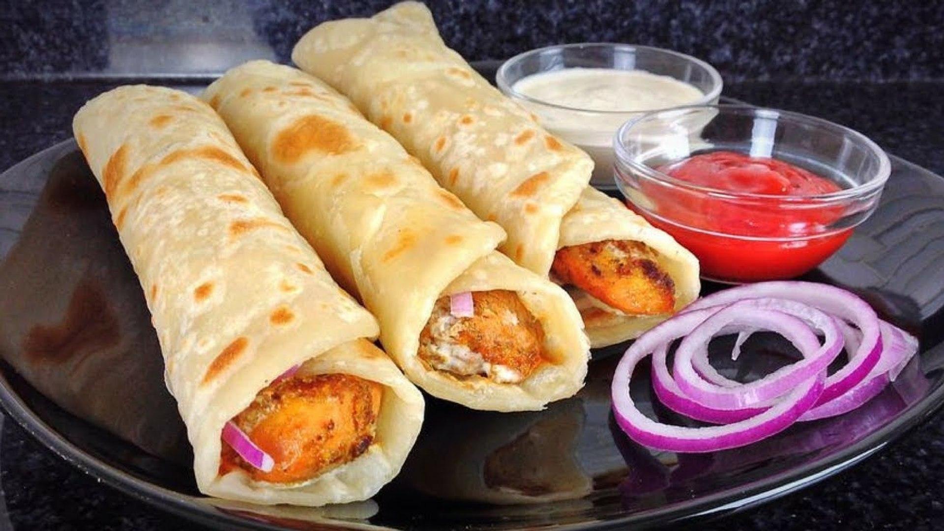 Chicken Paratha Roll Recipe - Ramadan Recipes