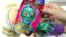 Vivant bébé beauté beauté soins poupées soin du visage drôle masque pédicure Peau vidéo Disney salo