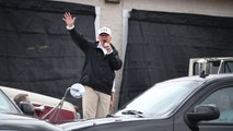 Donald Trump comments on crowd 'turnout' during a Visit to Harvey-ravaged Texas