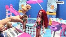 Frozen Elsa Anna Little Sirène Disney Princesse makeover conte de fée sirène évasion requin piscine de jeux pour enfants animés attaque Films famille Anime la pâte de jeu faisant une queue de sirène   borami t
