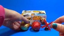 Huevos Sorpresa de Star Wars La Guerra de las Galaxias | Star Wars Kinder Surprise eggs
