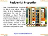 Real Estate (Residential and Commercial) Properties (Flats and Apartments) for sale in India