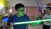 Papa échoue obliger un s examen étoile le le le le la à Il contre guerres où Yoda fx sabre laser kylo