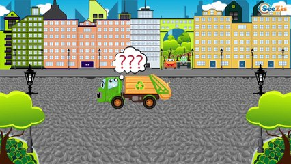 Tractores para niños - Tractors for children - Dibujo animado de coches - Carritos para niños