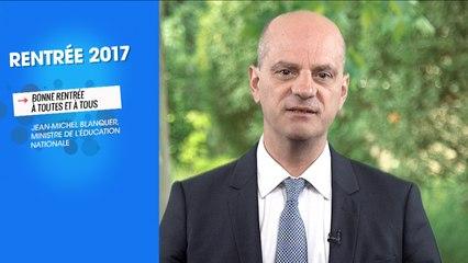 Jean-Michel Blanquer souhaite une bonne rentrée aux lycéens