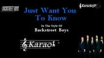 Backstreet Boys - Just Want You To Know (Karaoke)