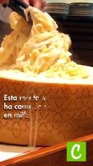 molde de queso con pasta
