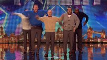 Old Men Grooving bust a move, and maybe their backs! _ Britain's Got Talent 2015