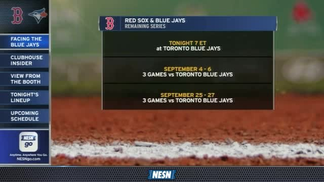 Red Sox Gameday Live: Red Sox's Remaining Schedule Vs. Blue Jays
