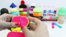 Crème de la glace jouer pâte à modeler sucettes glacées arc en ciel écopes jouet friandises à Doh Playdough n