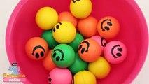 Aprender colores con sonriente cara caucho bolas divertido aprendizaje concurso por Niños Mundo